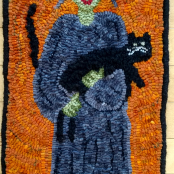 """A Woolen Memories design hooked and photographed by Heather Fenz, St. Marys ON, completed in 2021, 9"""" x 25"""""""