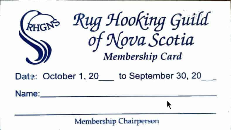 RHGNS Membership Card